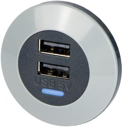Dvojitá elegantní USB zásuvka do auta  Alfatronix