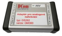 Adaptér pro analogové nahrávání DS262 – verze GM360