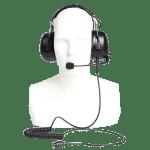 Hovorová souprava s potlačením hluku  s PTT tlačítkem